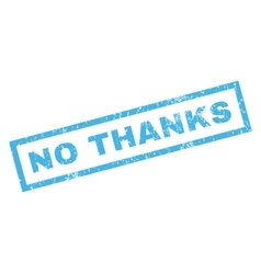 No Thanks Rubber Stamp vector image vector image
