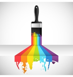 rainbow brush vector image