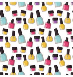 Red nail polish bottle varnish enamel glamour vector
