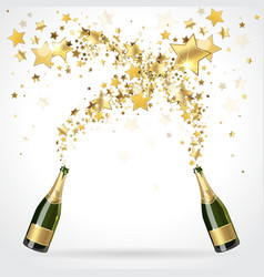 salute of champagne vector image