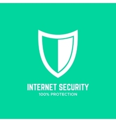 Shield logo design template concept Firewall icon vector image