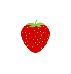 simple strawberry icon vector image