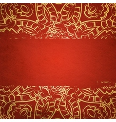Textured card with filigree ornament vector image