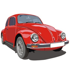 VW beetle car vector image