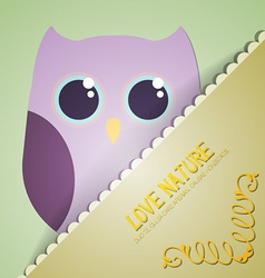 With nature and cute owl vector