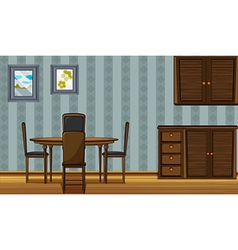 A dinning table and a wardrobe vector image