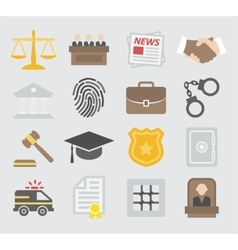 Law colorful icons vector