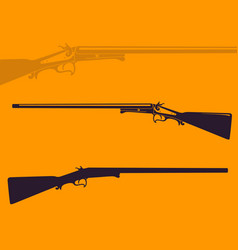 Vintage hunting rifle vector