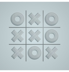 Glass tic tac toe vector