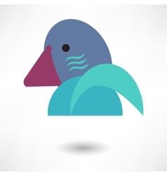 Creative Dove Icon vector image