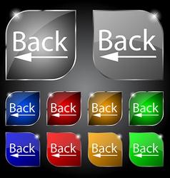 Arrow sign icon back button navigation symbol set vector