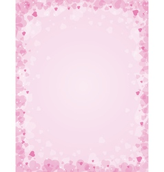 Pink background for valentines day vector