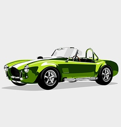 Classic sport green car ac shelby cobra roadster vector