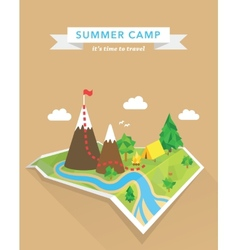 Tourism concept polygonal map vector