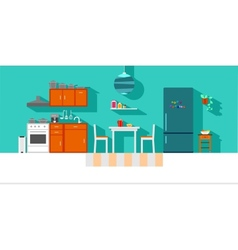 Small kitchen vector
