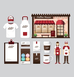 Buildings restaurant and cafe shop front design vector