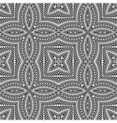 Design seamless monochrome flower pattern vector
