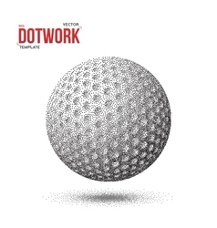Dotwork golf sport ball icon made in vector