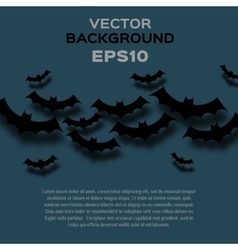 abstract background with bats Halloween vector image
