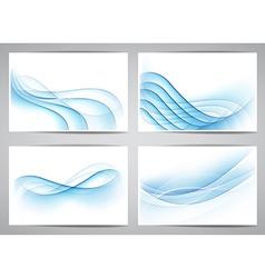 Abstract smoke wavy banners vector image vector image