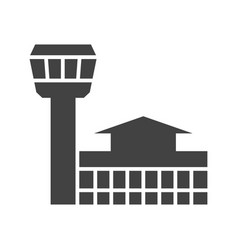 Airport building vector