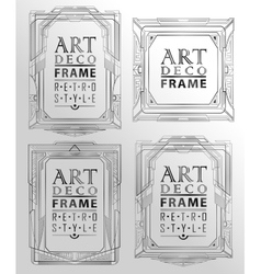Art deco geometric vector