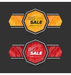 Big sale circle stickers vector image vector image