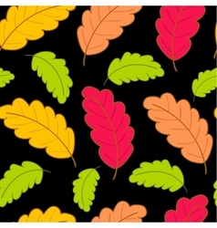 bright pattern with oak leaves2 vector image vector image