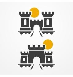 Castle icon set vector image vector image