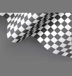 checkered flag wave gray design for sport race vector image vector image