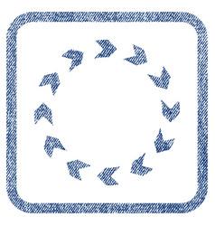 circulation fabric textured icon vector image