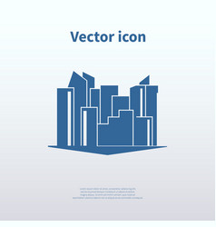 city icon vector image vector image