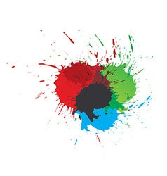 Color paint splashes vector