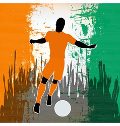 Football Ivory Coast vector image