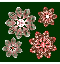 Geometry flower vector