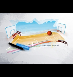 grunge basketball design vector image