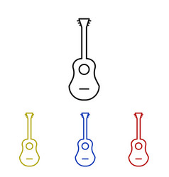 Guitar line icon vector
