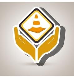 Hands tools construction symbol vector