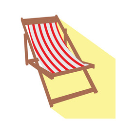 isolated beach chair vector image vector image