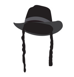 Isolated traditional jewish hat vector