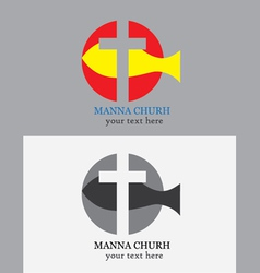 Manna church logo vector