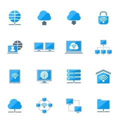 Network icons set vector