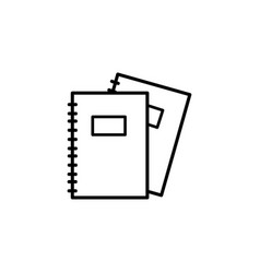 notebooks icon vector image vector image