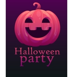 Poster halloween party vector