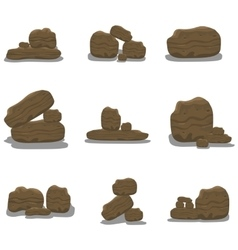 Rock stone cartoon vector