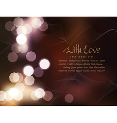 romantic background with blur vector image vector image