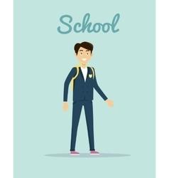 School in Flat Style Design vector image