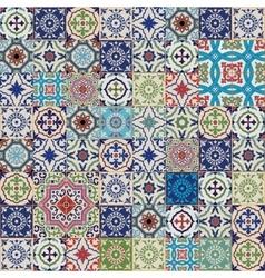 Seamless moroccan portuguese azulejo tiles vector