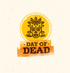 Skull the day of the death vector