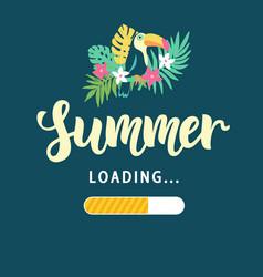 Summer loading modern amusing poster vector